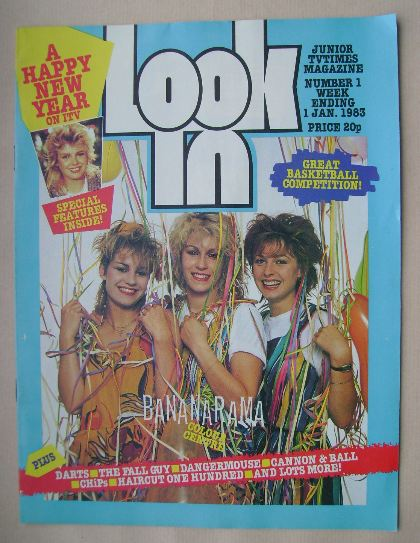 <!--1983-01-01-->Look In magazine - Bananarama cover (1 January 1983)
