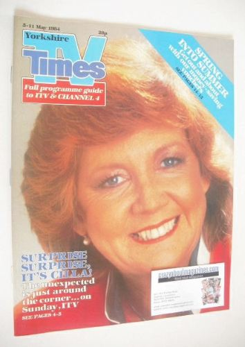 <!--1984-05-05-->TV Times magazine - Cilla Black cover (5-11 May 1984)