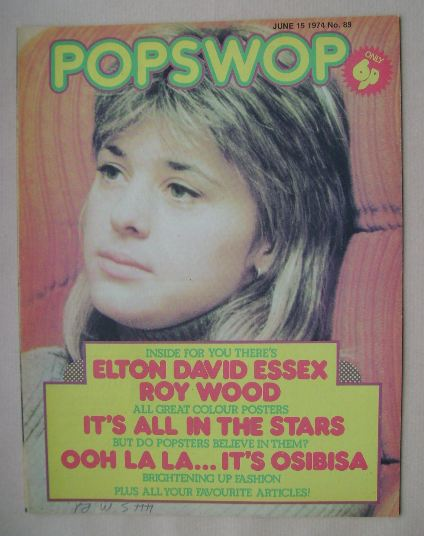 <!--1974-06-15-->Popswop magazine - 15 June 1974 - Suzi Quatro cover