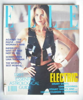 Australian Elle magazine - January 1991 - Claudia Schiffer cover