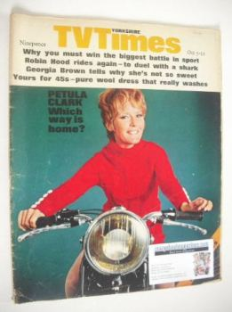 TV Times magazine - Petula Clark cover (5-11 October 1968)