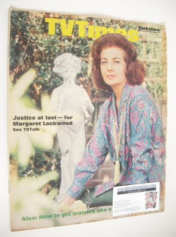 <!--1969-07-12-->TV Times magazine - Margaret Lockwood cover (12-18 July 19