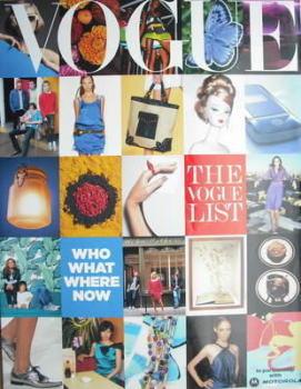 British Vogue supplement - The Vogue List (2006)