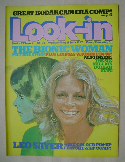 <!--1977-06-18-->Look In magazine - The Bionic Woman cover (18 June 1977)