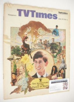TV Times magazine - The Prince Of Wales cover (28 June - 4 July 1969)