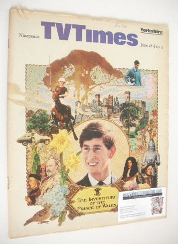 <!--1969-06-28-->TV Times magazine - The Prince Of Wales cover (28 June - 4