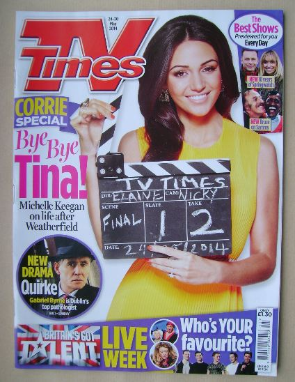 <!--2014-05-24-->TV Times magazine - Michelle Keegan cover (24-30 May 2014)