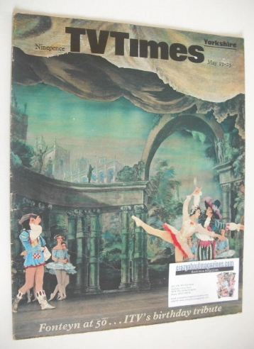 <!--1969-05-17-->TV Times magazine - Fonteyn at 50 cover (17-23 May 1969)