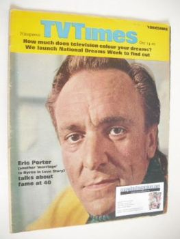 TV Times magazine - Eric Porter cover (14-20 December 1968)