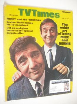 TV Times magazine - Mike and Bernie Winters cover (16-22 November 1968)