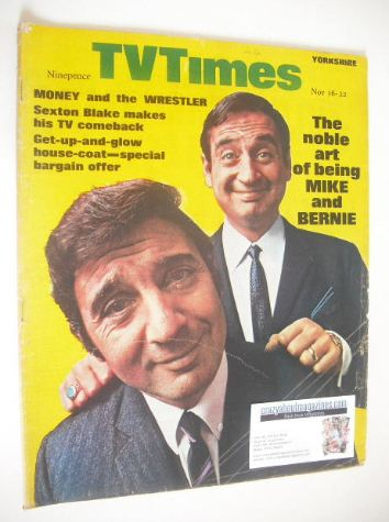 <!--1968-11-16-->TV Times magazine - Mike and Bernie Winters cover (16-22 N