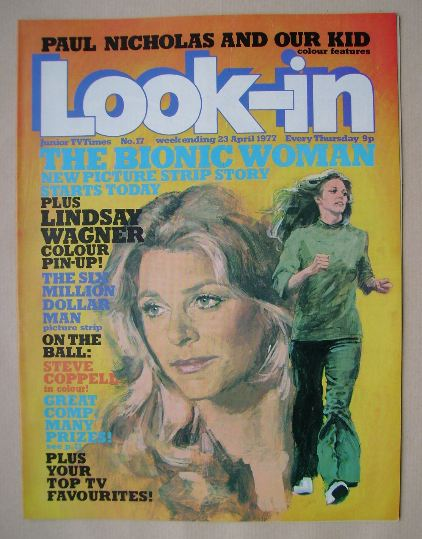 <!--1977-04-23-->Look In magazine - The Bionic Woman cover (23 April 1977)