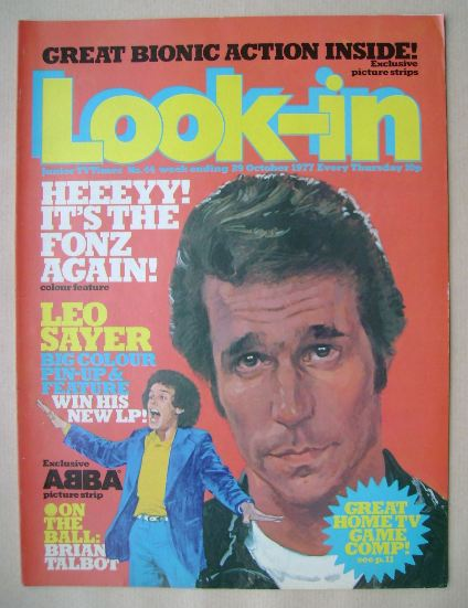 <!--1977-10-29-->Look In magazine - Henry Winkler cover (29 October 1977)