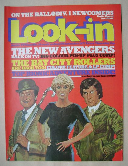 <!--1977-09-10-->Look In magazine - The New Avengers cover (10 September 19