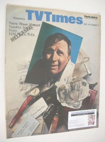 Tv Times Magazine Frank Marker Cover 26 July 1 August