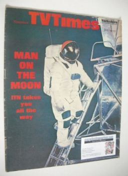 TV Times magazine - Man On The Moon cover (19-25 July 1969)