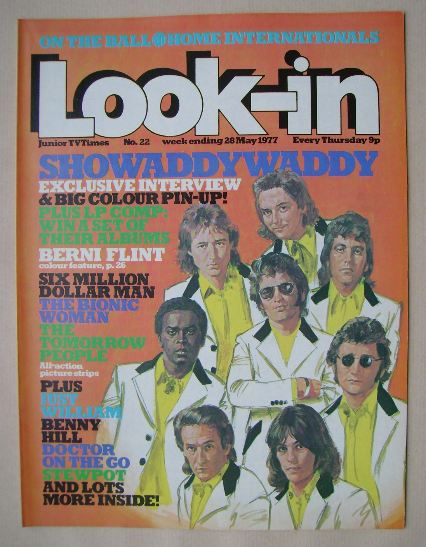 <!--1977-05-28-->Look In magazine - Showaddywaddy cover (28 May 1977)