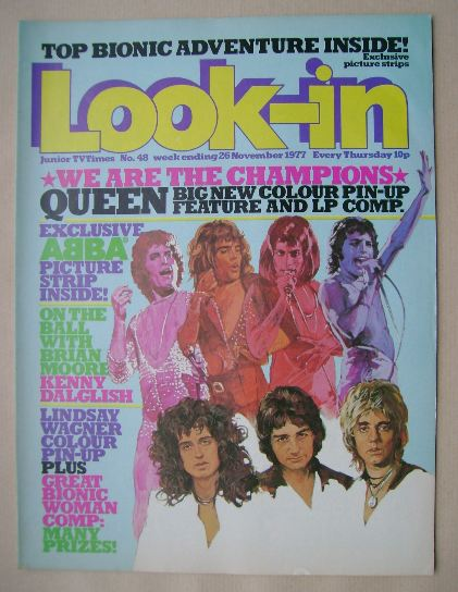 <!--1977-11-26-->Look In magazine - Queen cover (26 November 1977)
