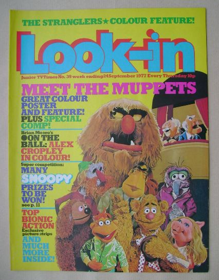 <!--1977-09-24-->Look In magazine - The Muppets cover (24 September 1977)