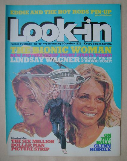 <!--1977-10-01-->Look In magazine - The Bionic Woman cover (1 October 1977)