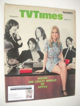 TV Times magazine - Inside The Crazy World Of Apple cover (7-13 June 1969)