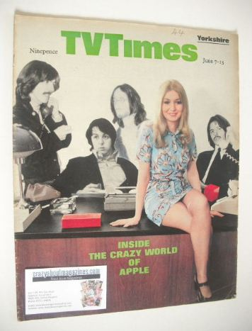 <!--1969-06-07-->TV Times magazine - Inside The Crazy World Of Apple cover
