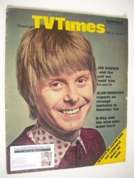 TV Times magazine - Joe Brown cover (31 May - 6 June 1969)