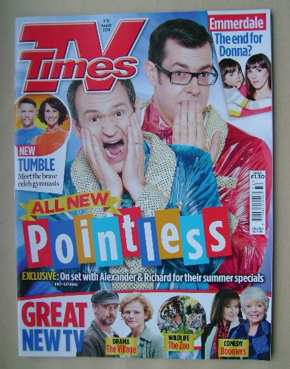 <!--2014-08-09-->TV Times magazine - Alexander Armstrong and Richard Osman
