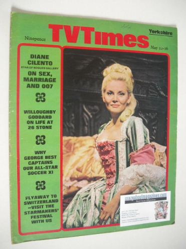 <!--1969-05-10-->TV Times magazine - Diane Cilento cover (10-16 May 1969)
