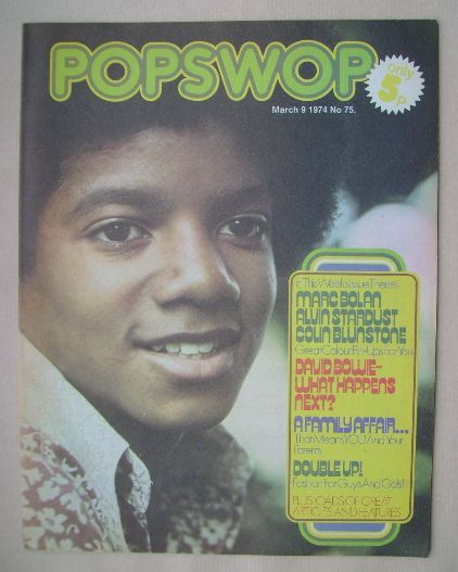 <!--1974-03-09-->Popswop magazine - 9 March 1974 - Michael Jackson cover