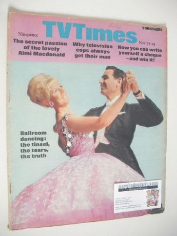 <!--1968-11-23-->TV Times magazine - Ballroom Dancing cover (23-29 November