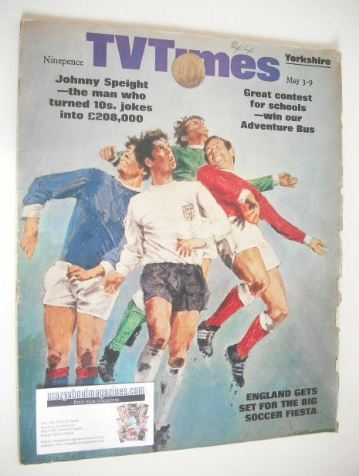 <!--1969-05-03-->TV Times magazine - Soccer cover (3-9 May 1969)