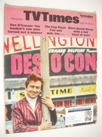 <!--1969-04-26-->TV Times magazine - Des O'Connor cover (26 April - 2 May 1