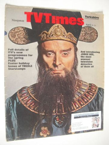<!--1969-04-05-->TV Times magazine - Judge Dee cover (5-11 April 1969)