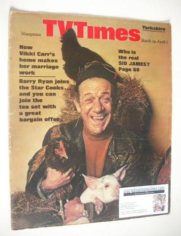 <!--1969-03-29-->TV Times magazine - Sid James cover (29 March - 4 April 19