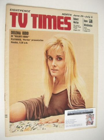 <!--1968-06-29-->TV Times magazine - Delena Kidd cover (29 June - 5 July 19