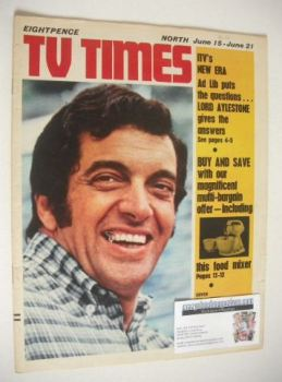 TV Times magazine - Frankie Vaughan cover (15-21 June 1968)