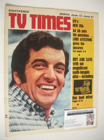<!--1968-06-15-->TV Times magazine - Frankie Vaughan cover (15-21 June 1968