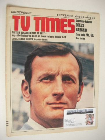 <!--1968-08-10-->TV Times magazine - Gerald Harper cover (10-16 August 1968