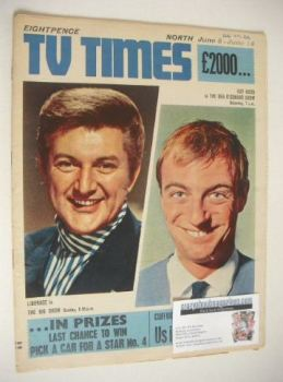 TV Times magazine - Liberace and Roy Hudd cover (8-14 June 1968)