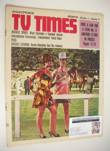 <!--1968-06-01-->TV Times magazine - Racing Fashion cover (1-7 June 1968)