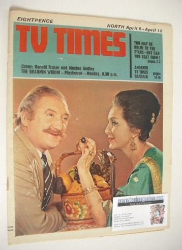 <!--1968-04-06-->TV Times magazine - Ronald Fraser and Maxine Audley cover