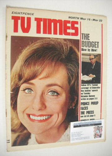 <!--1968-03-16-->TV Times magazine - Jennifer Wilson cover (16-22 March 196