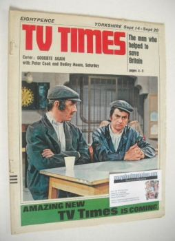 TV Times magazine - Peter Cook and Dudley Moore cover (14-20 September 1968)