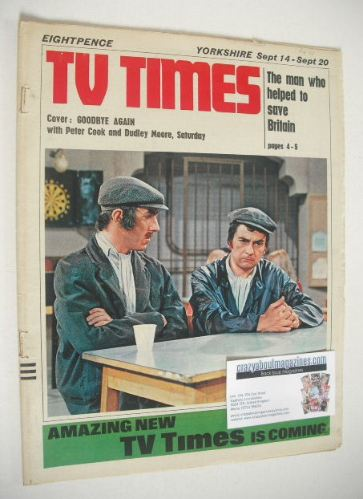 <!--1968-09-14-->TV Times magazine - Peter Cook and Dudley Moore cover (14-