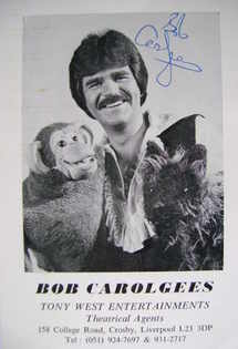 Bob Carolgees autograph