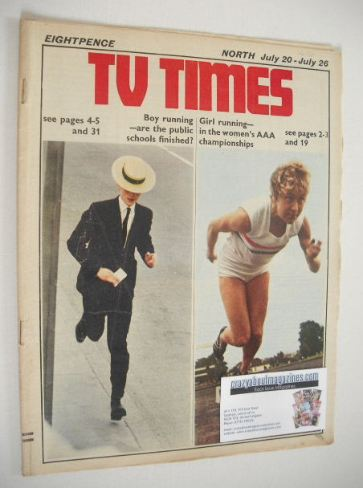 <!--1968-07-20-->TV Times magazine - Boy & Girl Running cover (20-26 July 1