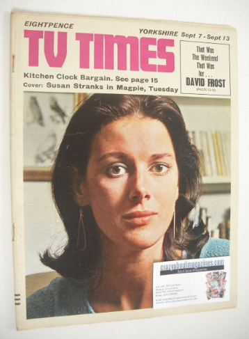 <!--1968-09-07-->TV Times magazine - Susan Stranks cover (7-13 September 19