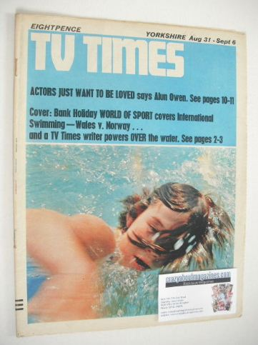 <!--1968-08-31-->TV Times magazine - Swimming cover (31 August - 6 Septembe