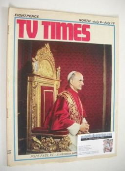 TV Times magazine - Pope Paul VI cover (6-12 July 1968)
